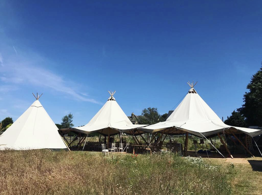 Two Tipis sides up