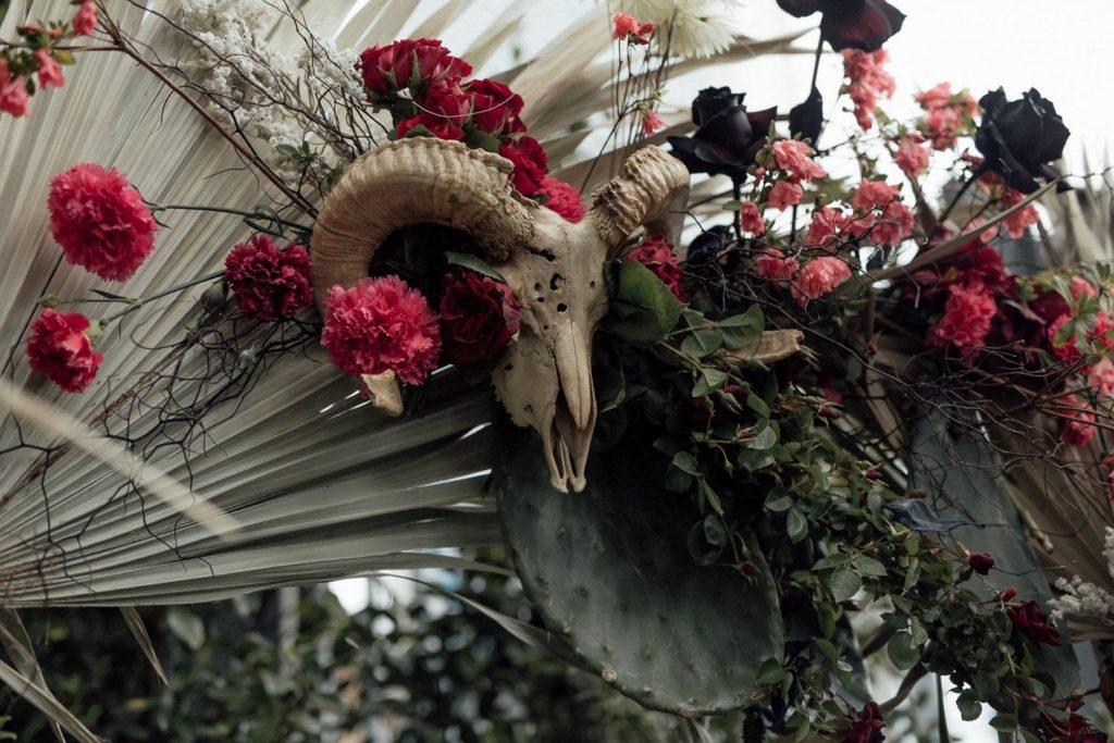 unusual flower installation