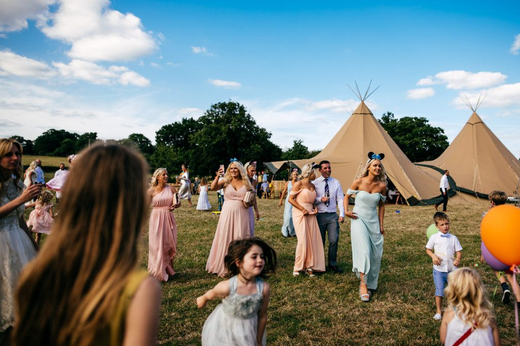 kids at weddings. love tipis