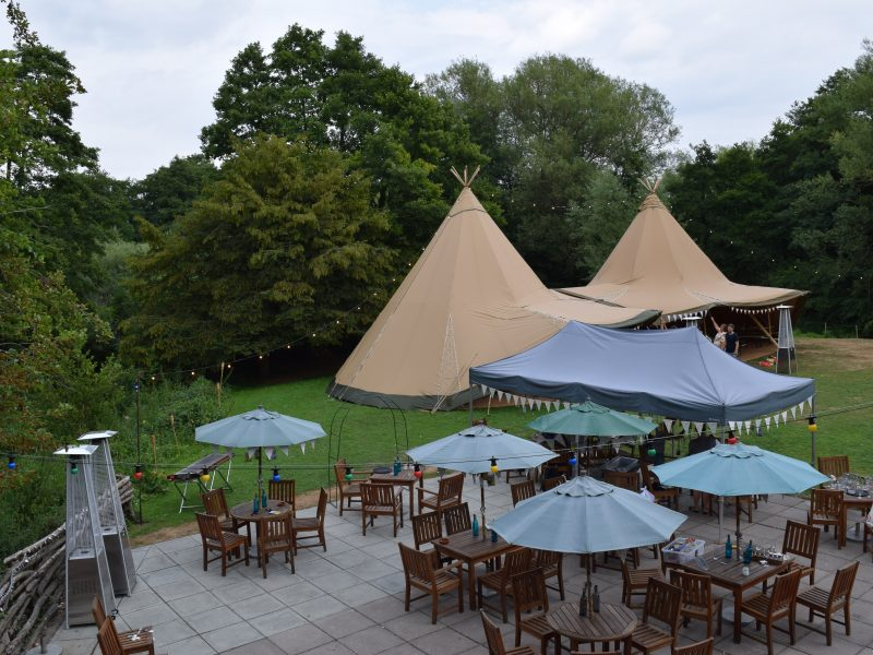 tan tipis with outside seating