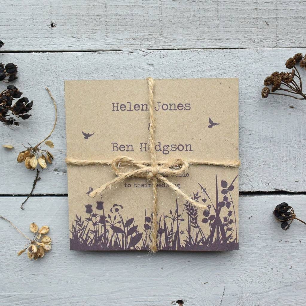 recycled invitation love tipis
