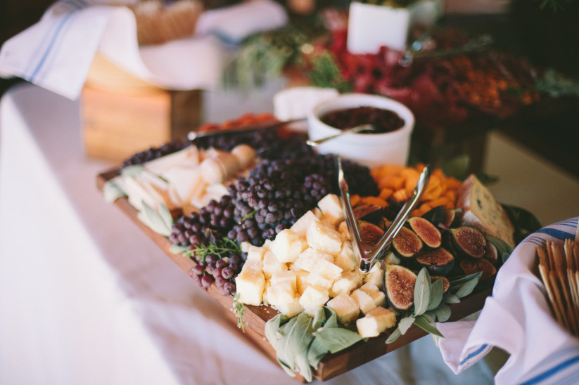 veggie wedding food love tipis