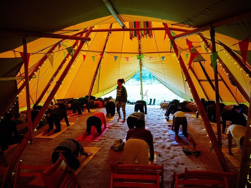 happy startup school -love tipis -yoga