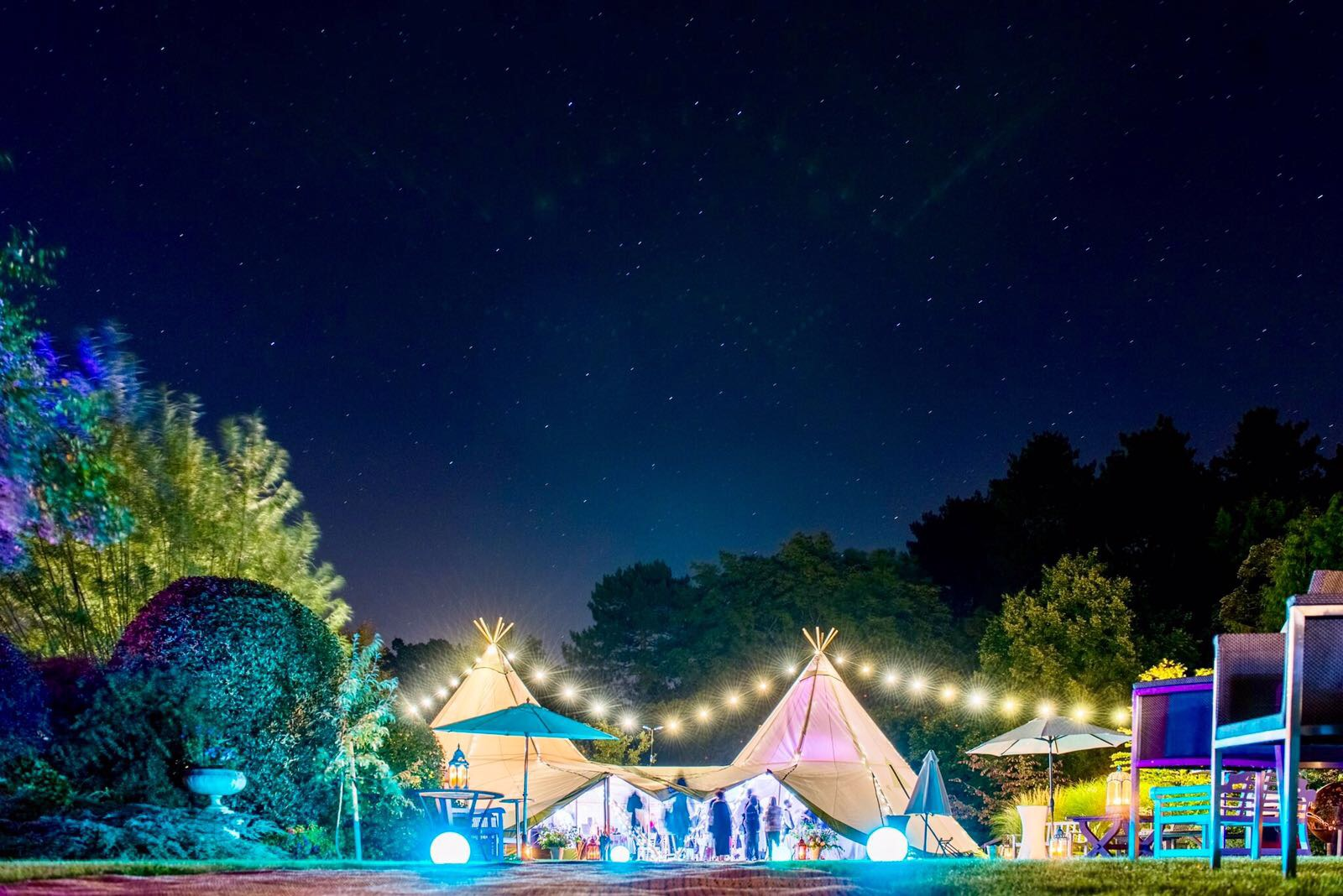 Love Tipis Night Lighting